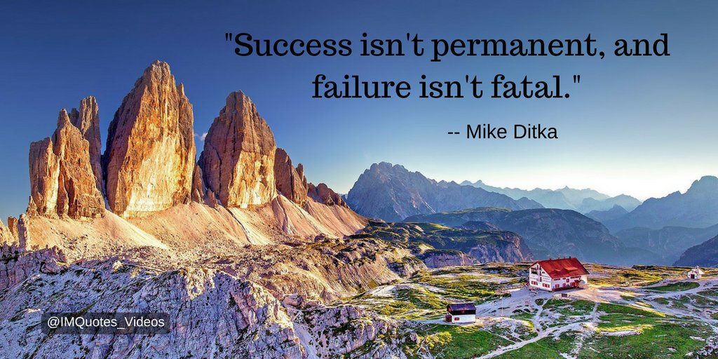 Replying to @IMQuotes_Videos: Be grateful for your success while it lasts, and understand that failure is not the end of the world #Motivation