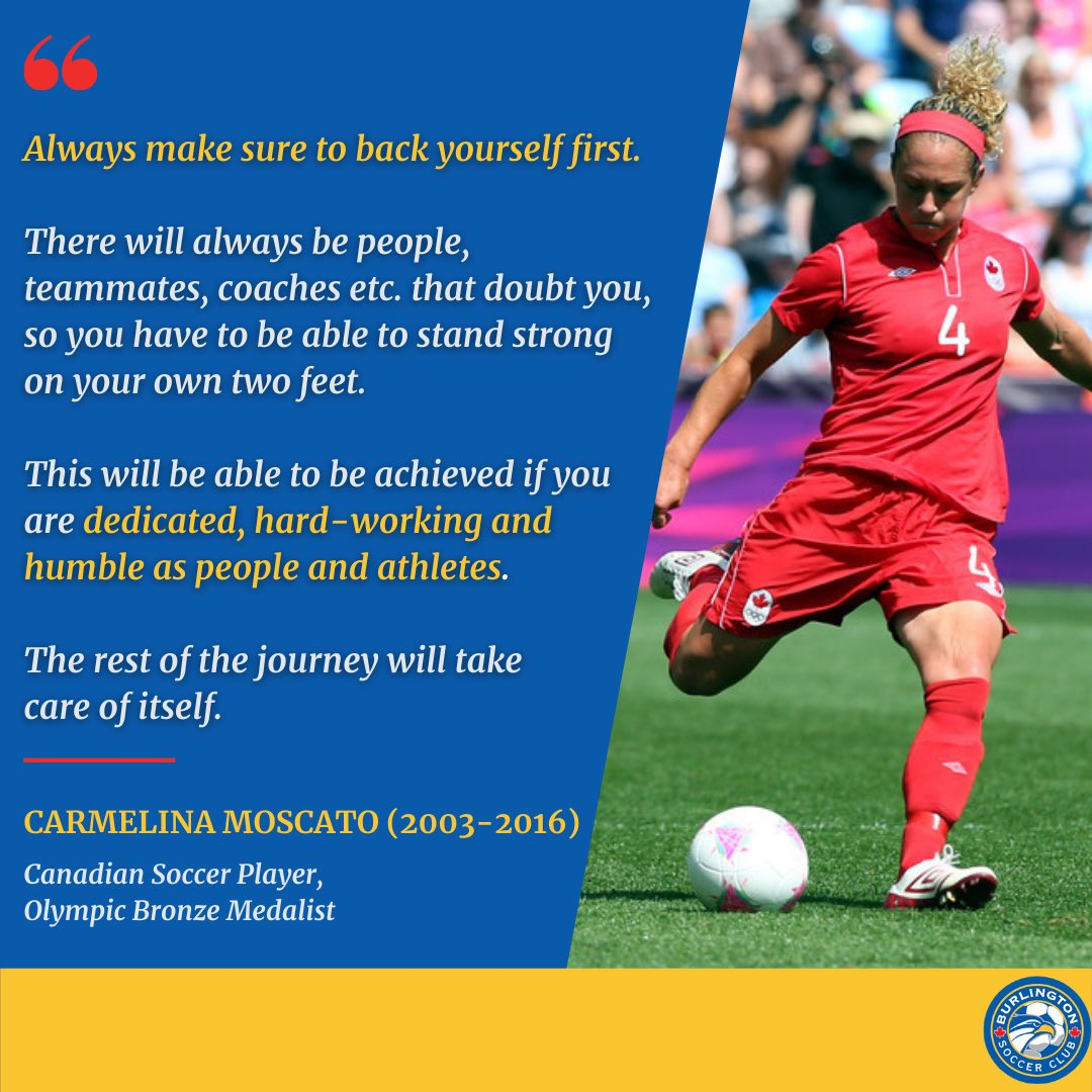 Happy #MondayMotivation Bayhawks! Today's #quoteoftheday comes from @cmoscato4, a former Bayhawk herself!💙💛 - She reminds us that remaining dedicated, hard-working and humble as people AND athletes will lead us to #success ⚽️ - #MotivationMonday #Burlington #InspirationalQuotes