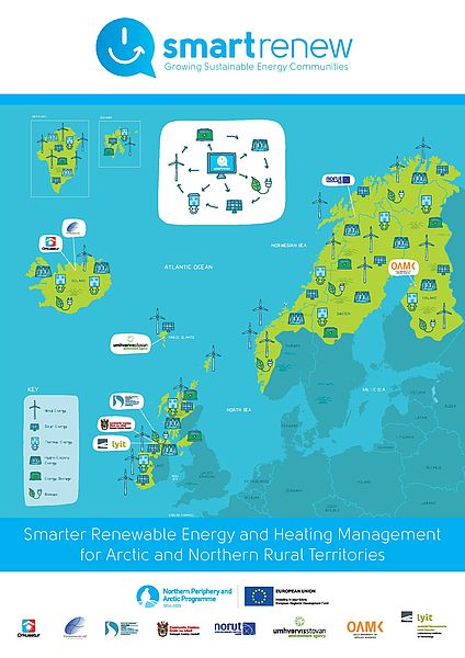 The aim of #SMARTrenew is to transfer & implement innovative #renewableenergy & smart storage solutions to 6 regions of the #NPA, each with varying levels of  #energy maturity – #FaroeIslands, #Finland, #Iceland, #Ireland, #NI, & #Norway Find out more 👉