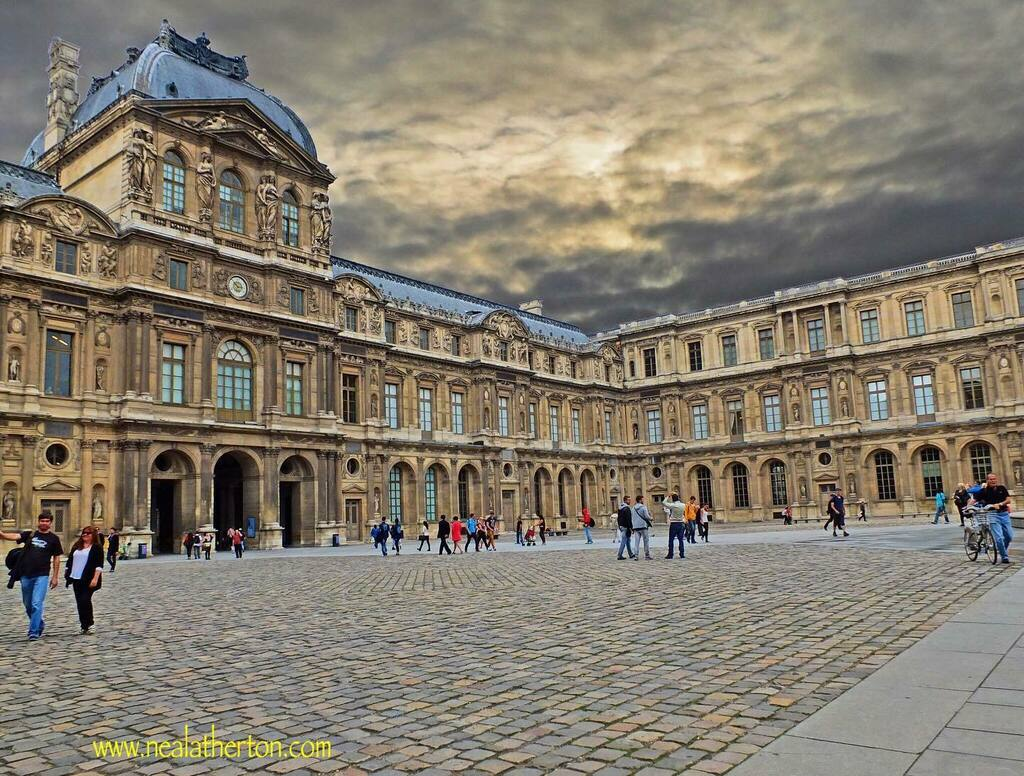 Courtyard at the Louvre Paris #paris #louvre #museum #sky #travel #france #photography  PLEASE ENJOY MY FRENCH TRAVEL BOOKS #kindleunlimited #france #wine #foodandwine #paristravel #provence #ku #bookstoread #memoirs getbook.a…