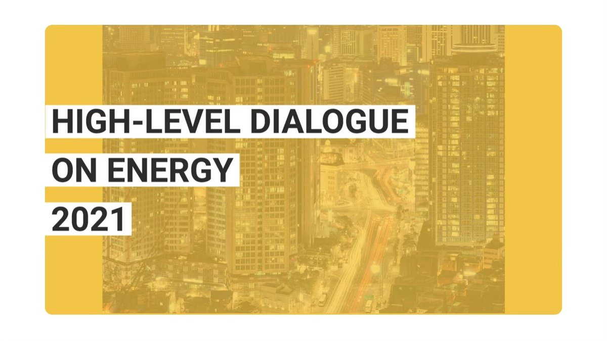 Read our most recent newsletter for the latest update on the High-Level Dialogue on Energy 2021.    ✉️   Subscribe to our newsletter  👉    #SDG7 #EnergyTransition  #GreenRecovery