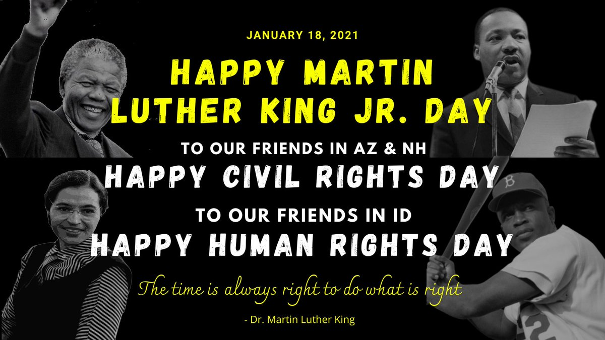 MLK Jr. Day celebrates MLK impact. Civil Rights Day honors ALL civil rights activists. Human Rights Day focuses on human rights & embracing diversity.   #MartinLutherKingJr #CivilRightsDay #HumanRightsDay #Equality #Diversity #Inclusion #FTC6174 #automatons #FIRSTFFC #az_ftc