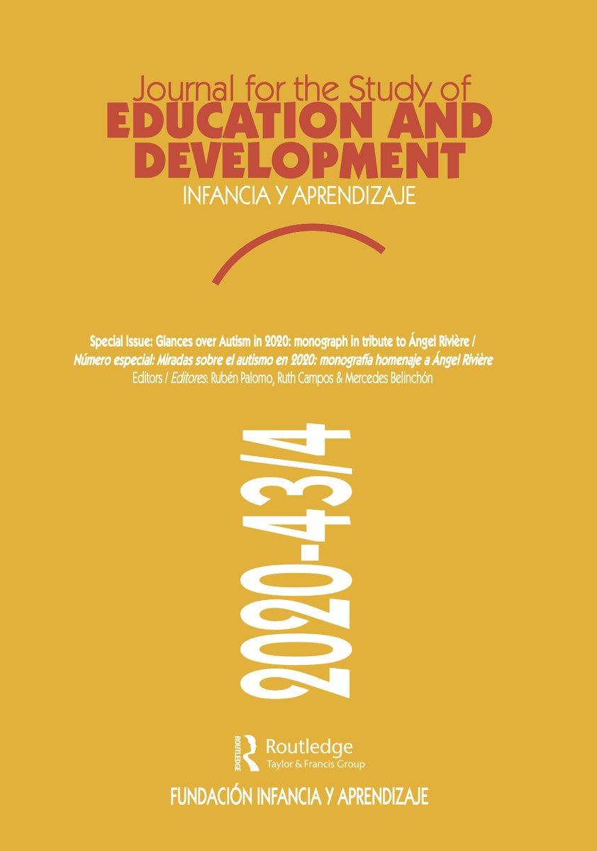 Journal for the Study of Education and Development / Infancia y Aprendizaje ha publicado una monografía homenaje a las aportaciones de Ángel Rivière al conocimiento del hoy llamado 'Espectro del Autismo'. . #autismo  #TEA #ASD