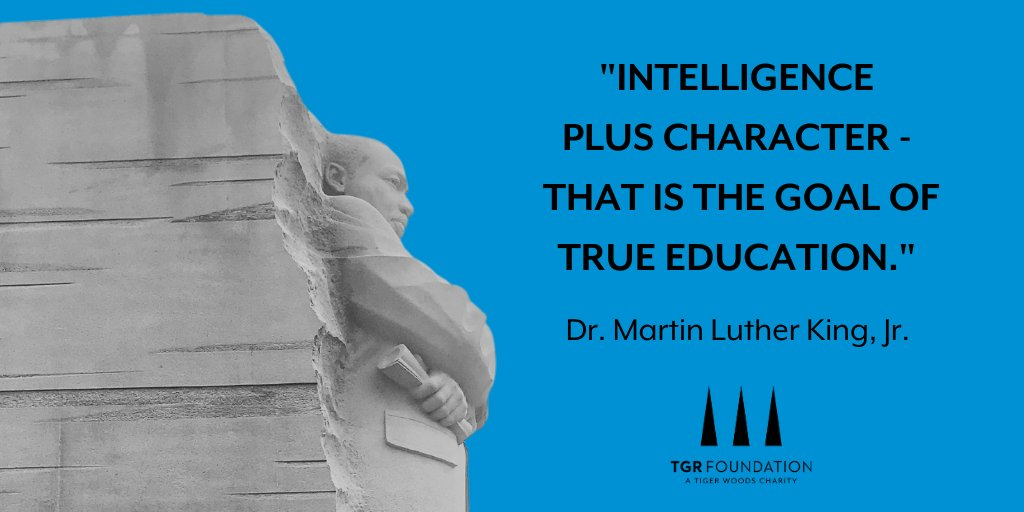 Dr. Martin Luther King Jr.'s work and words are an ongoing inspiration as we empower youth through education and create a world where opportunity is universal and potential is limitless. #MLKDay
