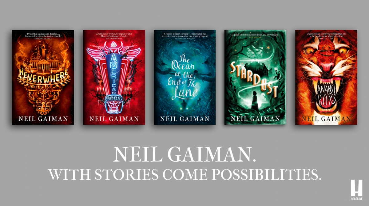 .@headlinepg is launching new editions of its five @neilhimself novels, Neverwhere, Stardust, American Gods, Anansi Boys and The Ocean at the End of the Lane, this spring! Find out more about the fresh livery and new design features here: bit.ly/3bO1KZH