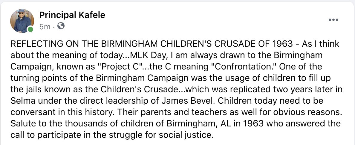 REFLECTING ON THE BIRMINGHAM CHILDREN'S CRUSADE OF 1963 AND THE MEANING OF TODAY (see below)