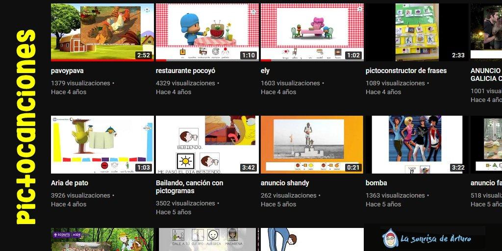 En el canal de youtube de @lasonrisdearturo tienes una colección de pictocanciones perfecta para entretener a los niños. ¡ No dejes de visitarlo! 👇  #autismo #discapacidad #coronavirus #yomequedoencasa #COVID19