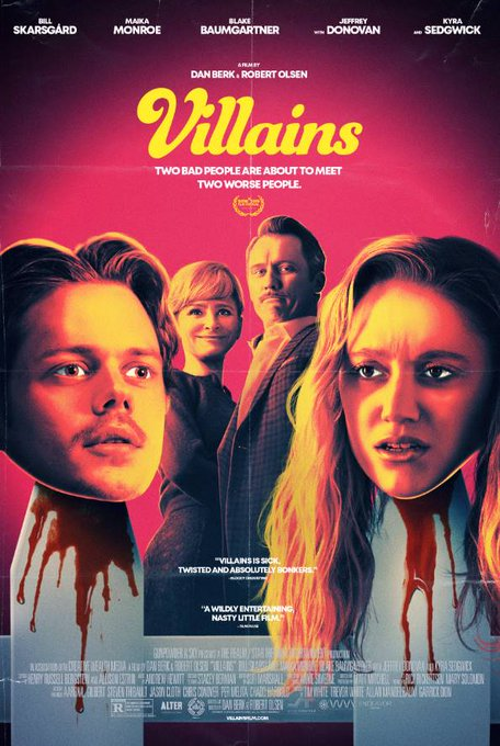 Villains (2019) ⭐️⭐️ An interestingly quirky film that is totally worth a watch especially for the wonderful performances by Jeffrey Donovan and Kyra Sedgwick. #OneSentenceReview #VillainsMovie #Review https://t.co/B4rfPaWHhC