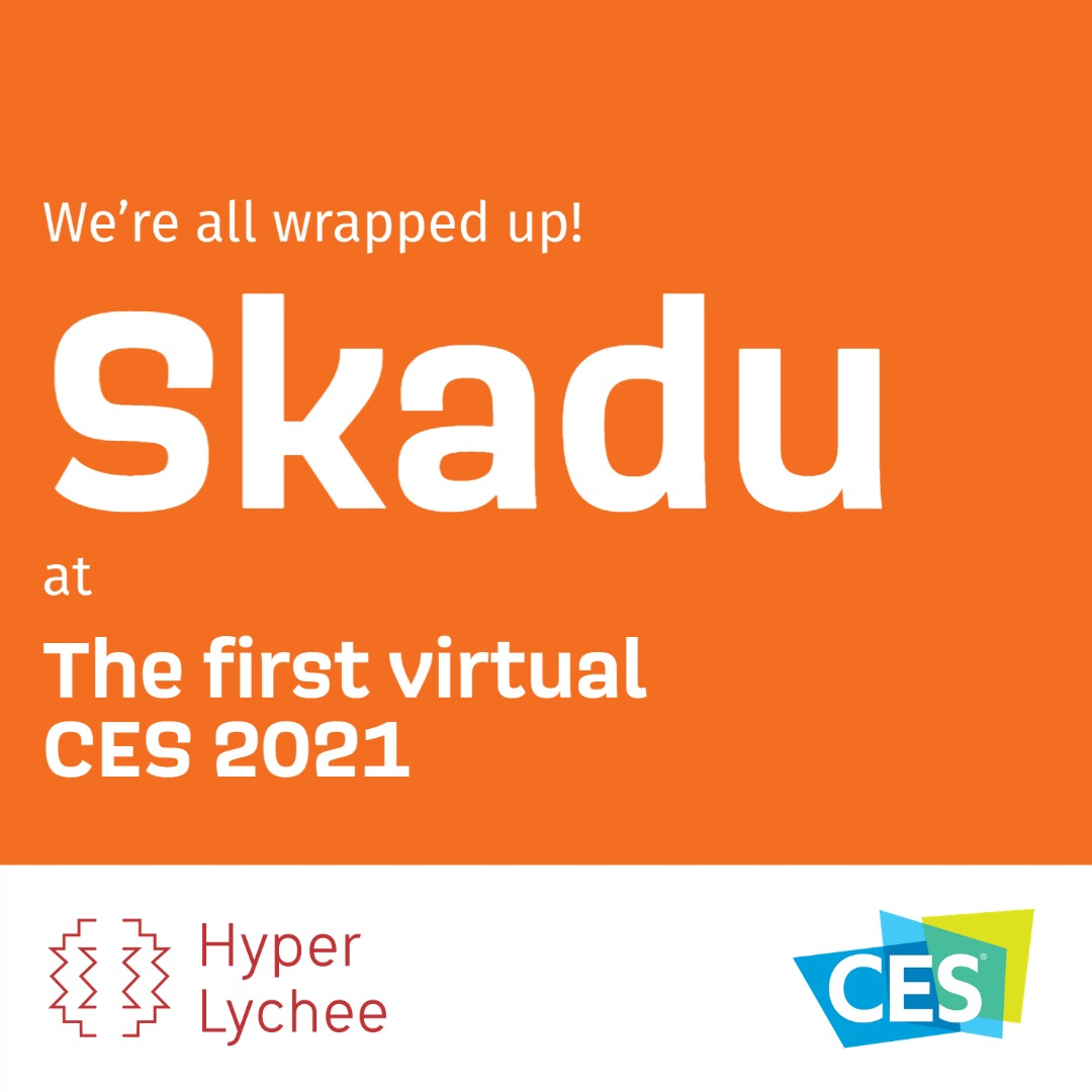 Our year started with the first ever virtual #CES2021 and what an experience that was! Thank you all for coming to our virtual booth :)  #productdesign #innovativetech #ces #consumertech #kitchengadets #Skadu #HyperLychee