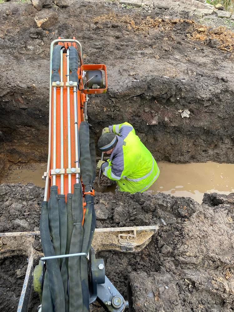 On the road trenching before laying fibre optic cable.   #trenching #enginering #behindthescenes