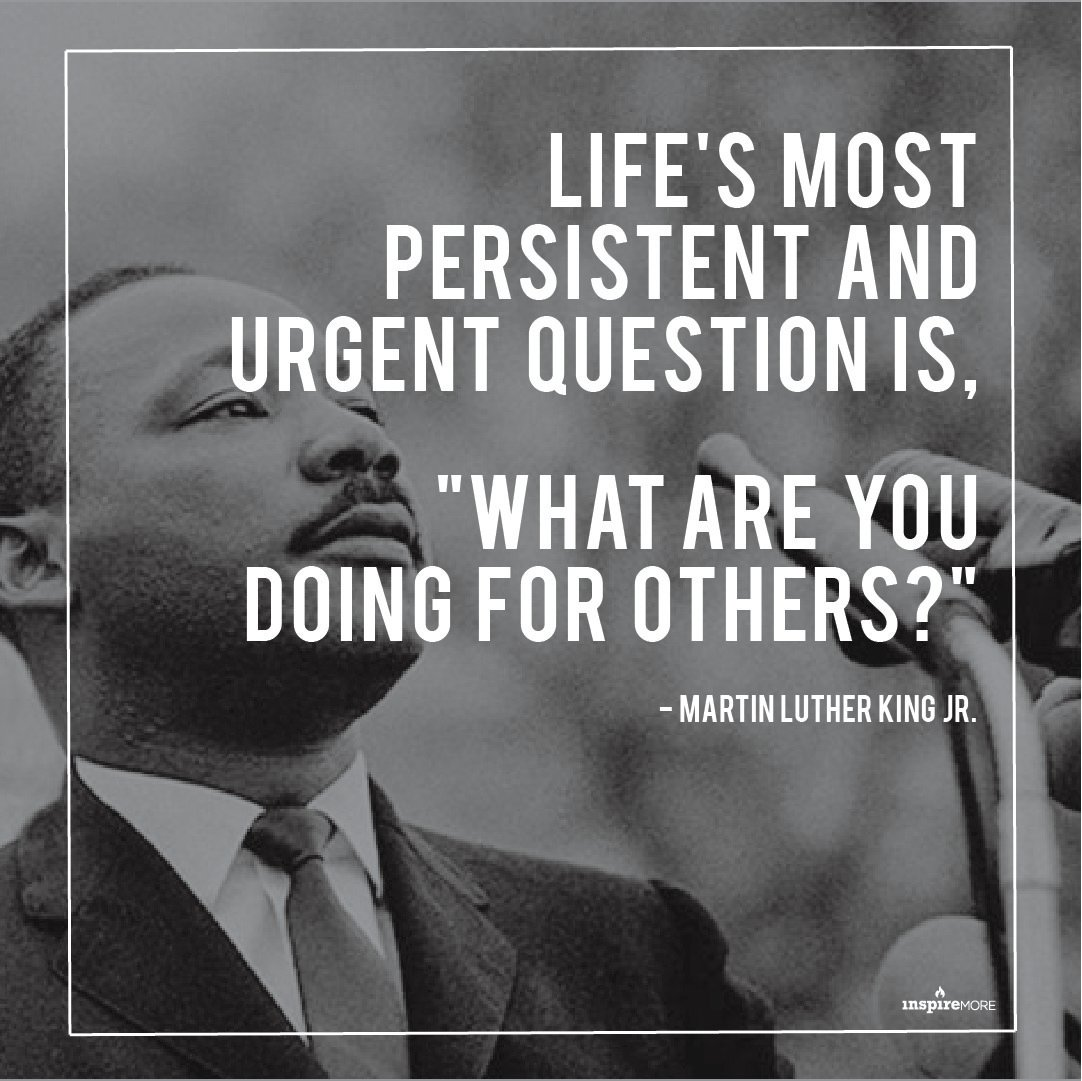 Today we honor the life and legacy of Martin Luther King Jr.   Everyday we celebrate his knowledge and gift.  #MLKDay