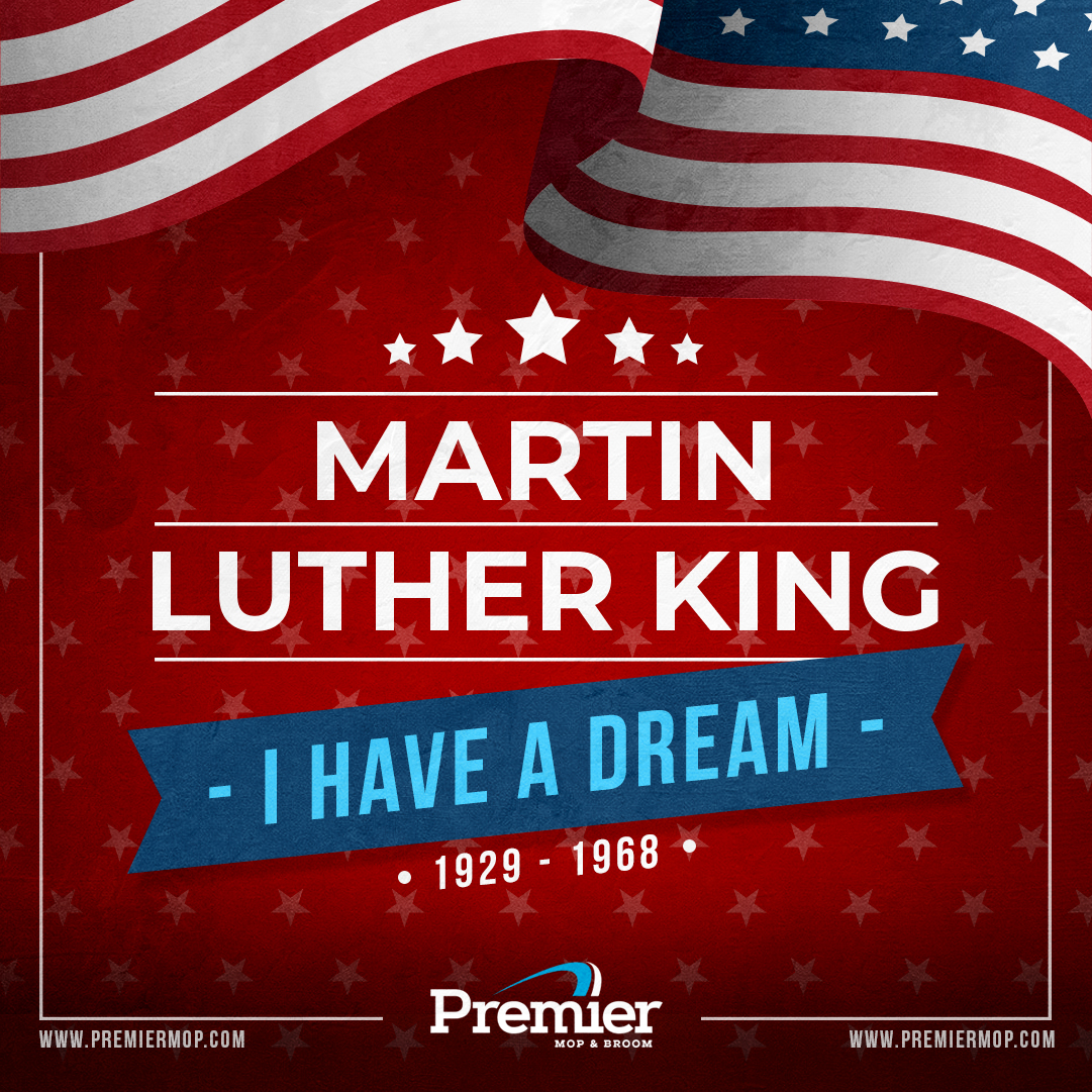 """We must accept finite disappointment, but never lose infinite hope."" ― Martin Luther King Jr. #MLKDay2021  #MondayThoughts #MondayMotivation #PrisonMops #WholesaleMicrofiber #WetMops #Brooms #DustMops #MopHandles #BroomHandles #CarpetBonnets @PremierMop"
