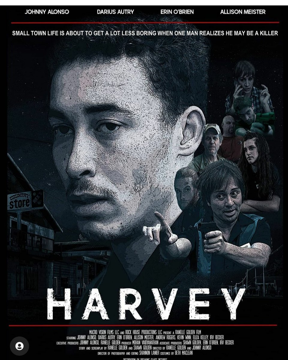 Here's our poster! @HarveyFeatureFilm on Instagram and Facebook! Please follow us and find out more. We were one of the few films approved by Sagaftra to shoot in Florida during the pandemic  #sagaftra #covidsafeset #murdermystery #thriller