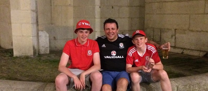 @sophiearumble Myself and my boys in Lyon. #TogetherStronger