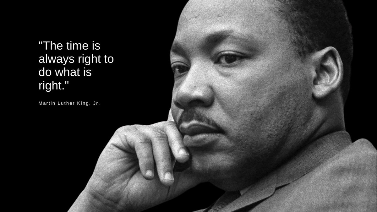 "#MondayMotivation from #AcadiaU  ""The time is always right to do what is right."" Thank you, Martin Luther King, Jr. #MLKDay"