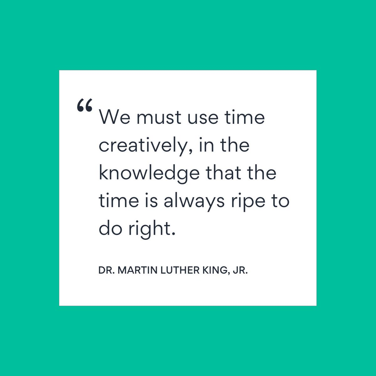 On #MLKDay, Dr. Martin Luther King, Jr.'s legacy of service reminds us that small, consistent acts make a big difference. As we work in service of our communities, let's ensure that we keep Dr. King's ideals alive and take care of each other, take responsibility, & take action.