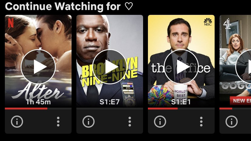 i just got a new netflix account so that's why there's not a lot