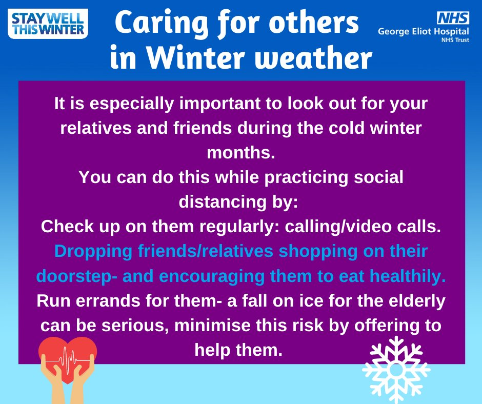 Today is #BlueMonday  It is especially important to look out for your relatives and friends during the cold winter months. You can do this while practicing social distancing!