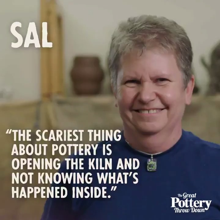 Sal on the unpredictable nature of pottery. #potterythrowdown
