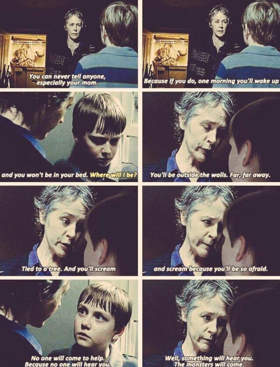5x12 #TheWalkingDead -Carol: no podrás hacer nada porque estarás atado y te destriparán mientras estás vivo. #TWD  @mcbridemelissa 🖤 Gran escena de Carol