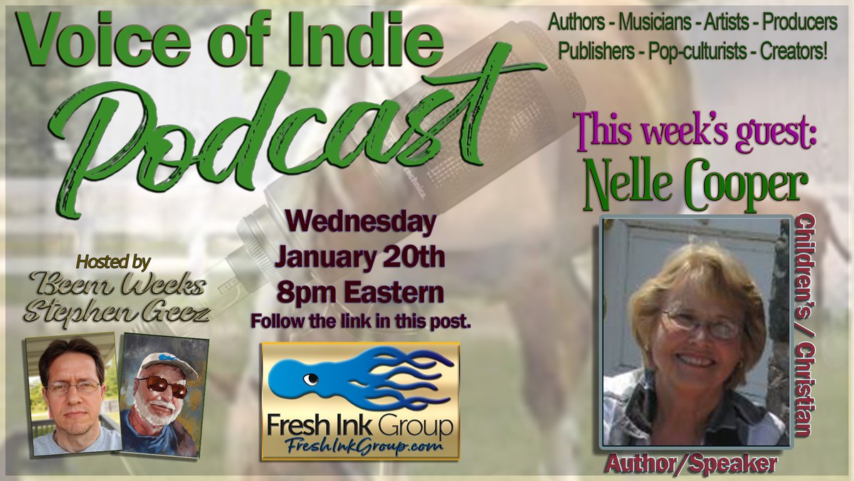 NELLE COOPER, #author #writer PRINCESS LIL #CHILDRENSBOOK & more, VOICE OF INDIE PODCAST @FreshInkGroup hosts @StephenGeez @BeemWeeks Wed Jan 20, 2021, 8PM EST!  #indieauthor #WednesdayVibe #writing #reading #publishing #FreshInkGroup #a