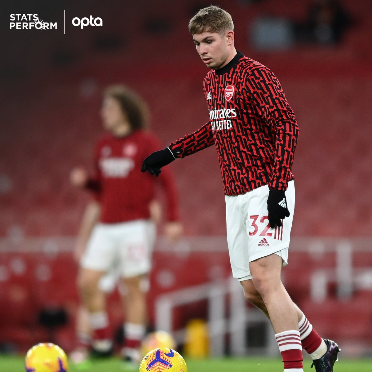 2 & 5 - Emile Smith Rowe has either scored (2) or assisted (5) in seven of his 10 appearances for Arsenal in all competitions this season, whilst the Englishman has provided two more assists than any other player for the Gunners this campaign (5). Returns. #ARSNEW