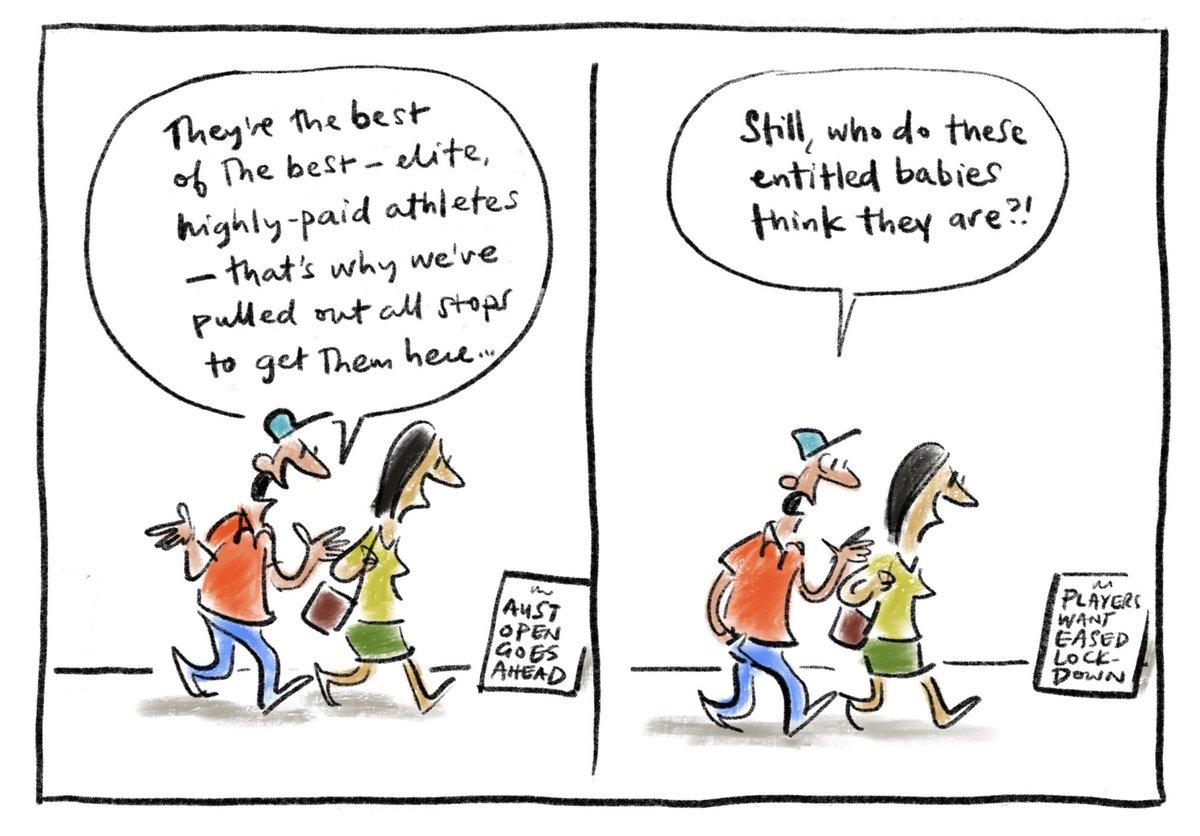 Line ball. My @smh @theage cartoon.