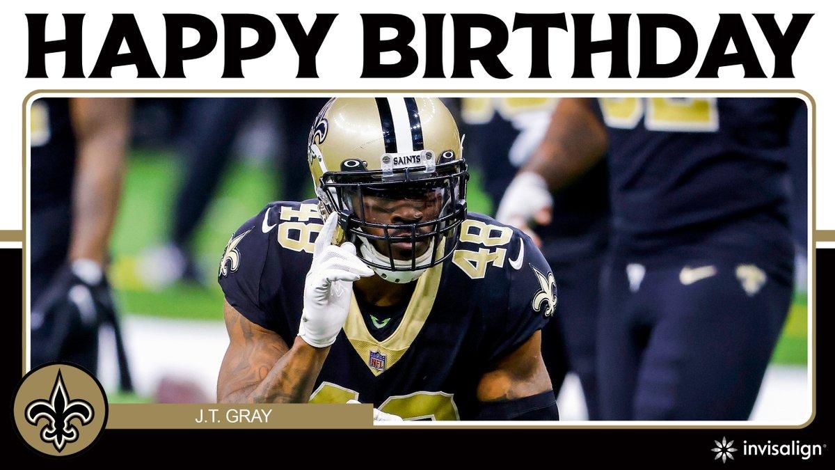 Wishing @iam_jtgray a happy birthday! 🎁  @Invisalign | #Saints