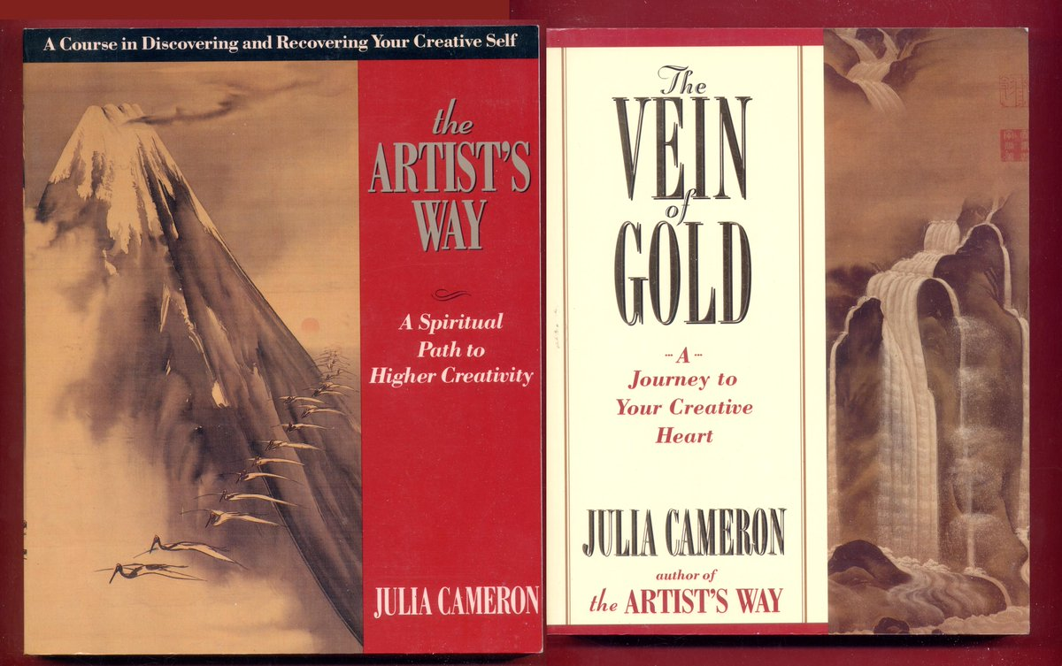 2 Julia Cameron books: The Artists Way & Vein of Gold - Learn to Draw #JuliaCameron #ArtistsWay #TheArtistsWay #SeriousPlay #NotPerfectionSimplyProgress - Free Shipping -