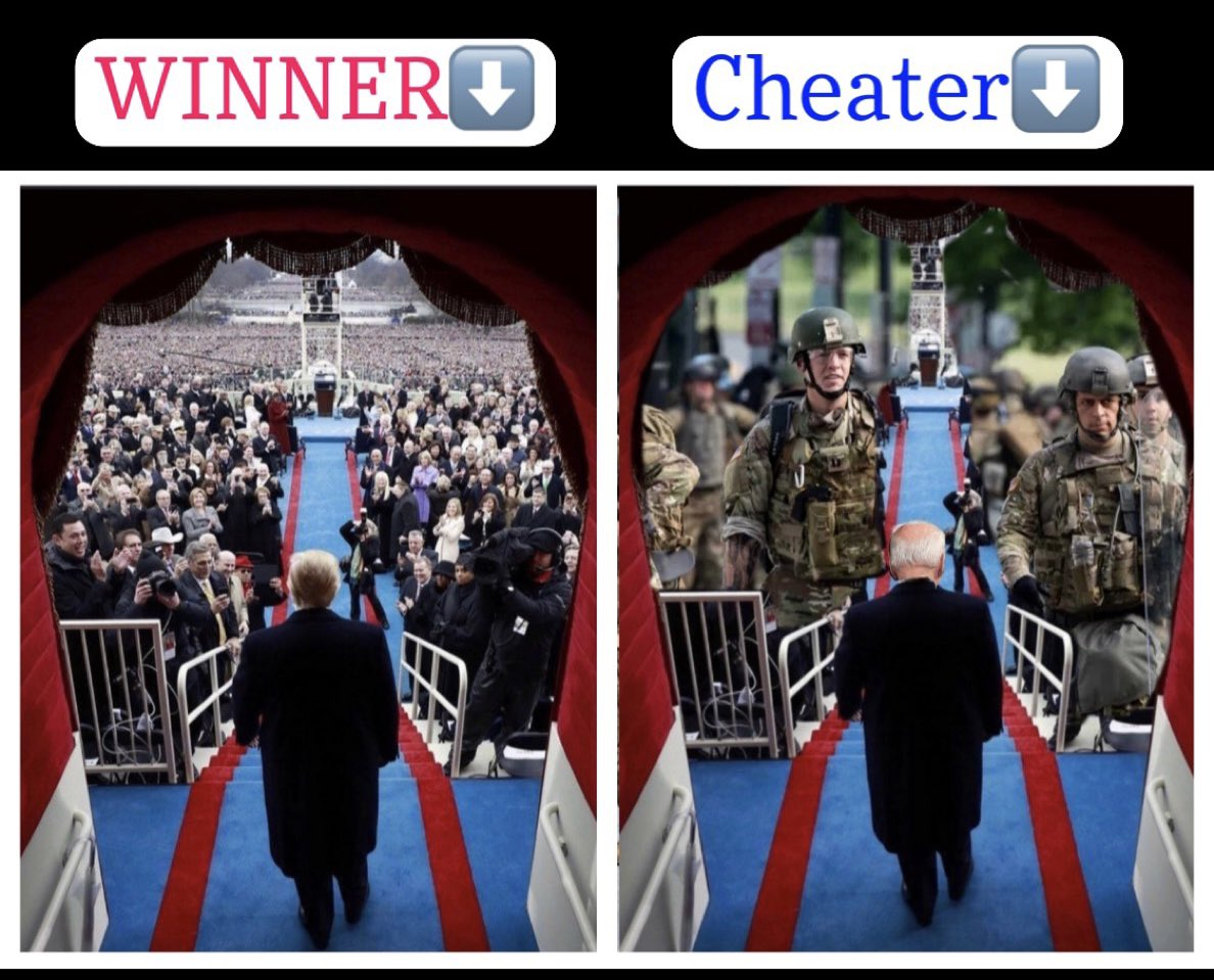 This is what it looks like after cheat and win a US election!