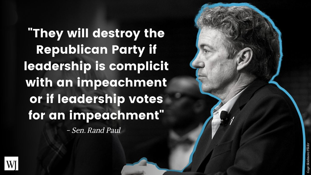 The second impeachment of Trump could shatter the Republican Party, Paul warns:    @RandPaul
