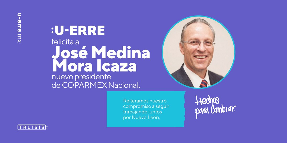 Muchas felicidades a @JoseMedinaMora por su reciente nombramiento como Presidente Nacional de @Coparmex. Afirmamos nuestra alianza, auguramos muchos éxitos en esta nueva etapa y celebramos su compromiso de seguir transformando México. https://t.co/6ZU8fOaeae
