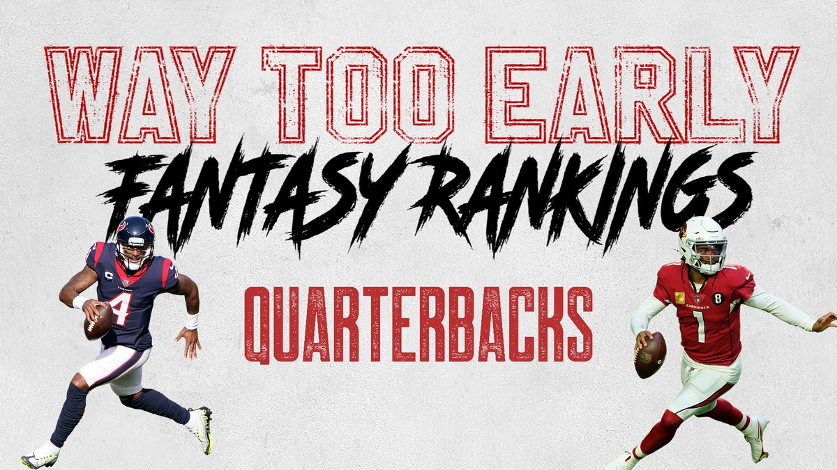 A recent #NFL MVP didn't make our WAY TOO EARLY #FantasyFootball Quarterback Rankings for 2021.  See who it is 👀 @DomiNateFF