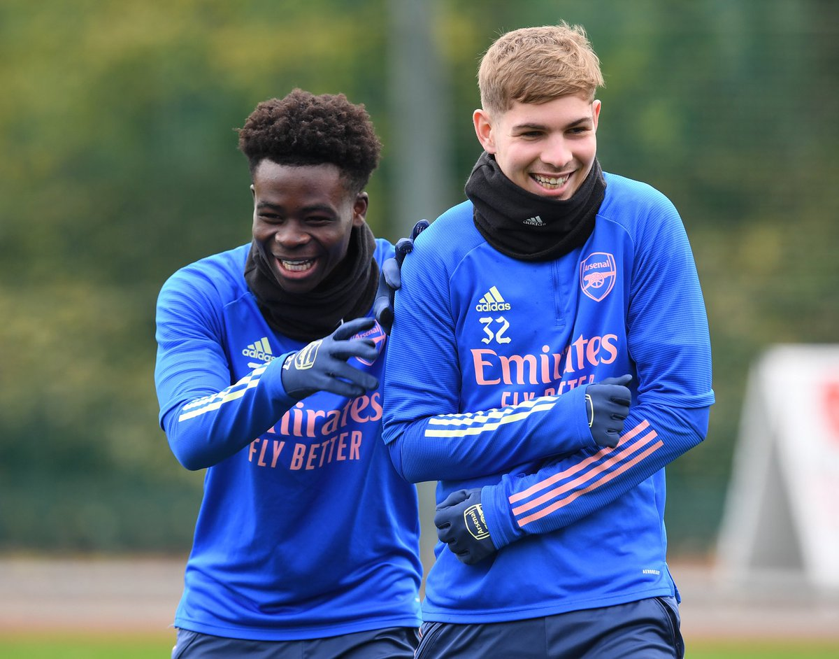 Emile Smith Rowe is a Kevin De Bruyne regen and I'm all for it.  Saka and Smith are young lads  with great talents   Proper, proper ballers  #COYG  #ARS #ARSCRY #partey #AUBA