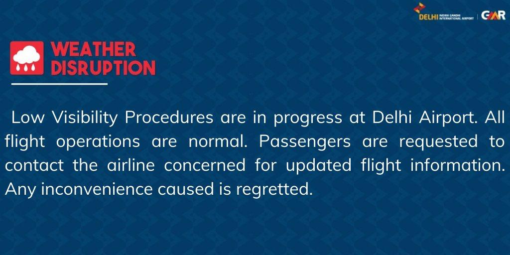 Update issued at 0320 hours: For live updates on the fog situation, visit  #FogAlert #DelhiAirport