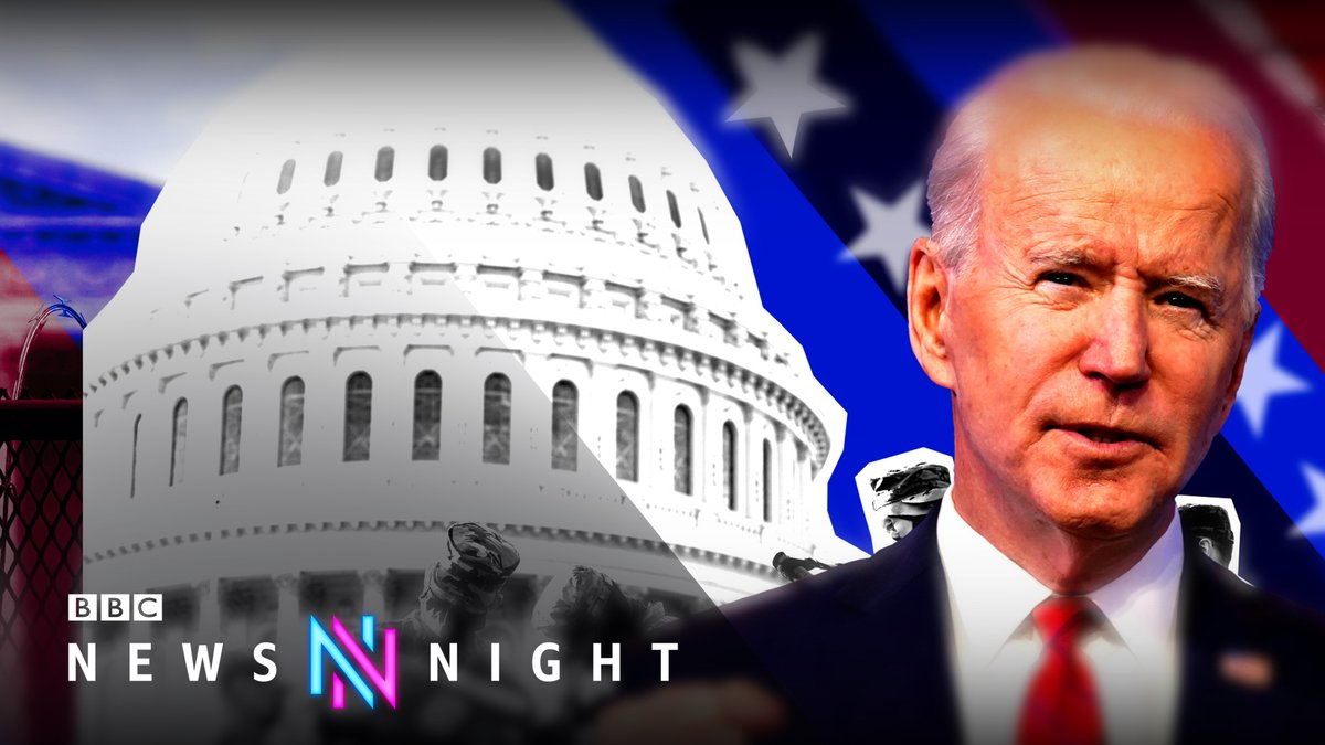 TONIGHT: With just 48 hours to go until Joe Biden's inauguration, the transition of power is overshadowed by the threat of domestic terror and violence.   @maitlis reports from Washington DC at 22:45   #Newsnight