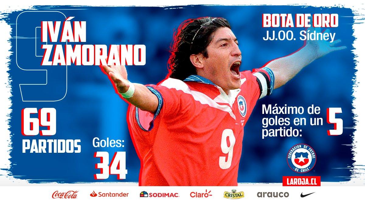 🇨🇱🔝 Una carrera brillante en #LaRoja    ⚽ Goles para todos los gustos  Y una medalla de bronce inolvidable... 🥉  🎂 Feliz Cumpleaños @bambam9oficial‼   📸 Getty Images | FIFA  #Chile #VamosLaRoja #VamosChile