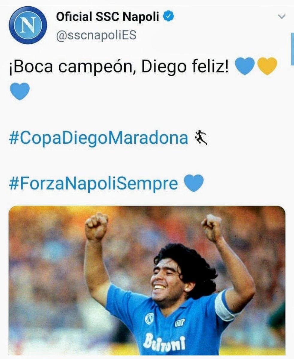 Napoli festejó el campeonato logrado por Boca con el recuerdo de Diego  Maradona...  #boca #napoli #Maradona #DiegoEterno #copadiegomaradona #La100