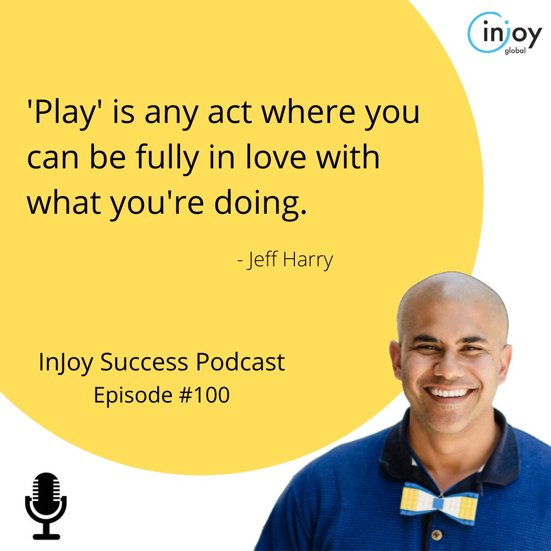 "Have you ever heard the classic, ""Work before play"" sort of proverbs? 🙄  But what if work WAS play? 🤔  Listen now:  iTunes:   Spotify:   #play #work #gratitude #leadership #injoysuccess #injoyglobal #podcast"