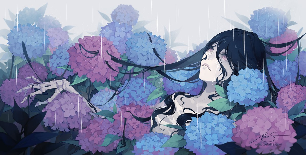 Missing the soft rain🌧️ Alternatively a nice nap with hydrangea pillows lol
