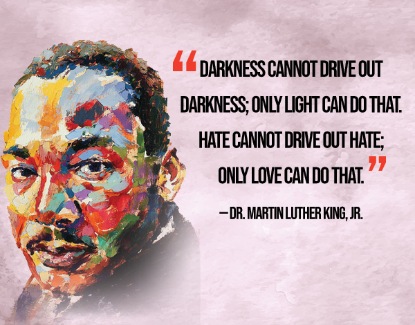 With all the chaos and hardship across the world, these words by Martin Luther King Jr. are a reminder of what matters - Love. Only light can overcome darkness of any form.  Happy MLK Day🎉✨ #MLKDay #MLKquotes #MartinLutherKing #Light #Love #Lifestyle #SuccessTRAIN