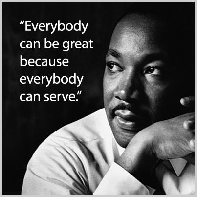 Serve something bigger than self. Create a connection. Unleash your greatness. Be a King...or a Queen. #MLK #Service #Greatness #MentalHealth #Wellness