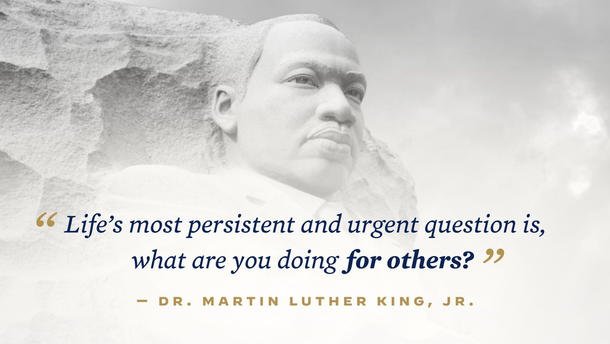 On this new journey, we continue to strive to embody the spirit of Dr. Martin Luther King, Jr. and honor his legacy. https://t.co/USqfFzcBzy