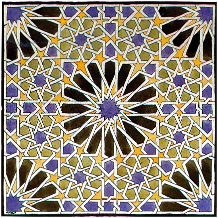 Mural Mosaic in The Alhambra, 1922 #escher #opart
