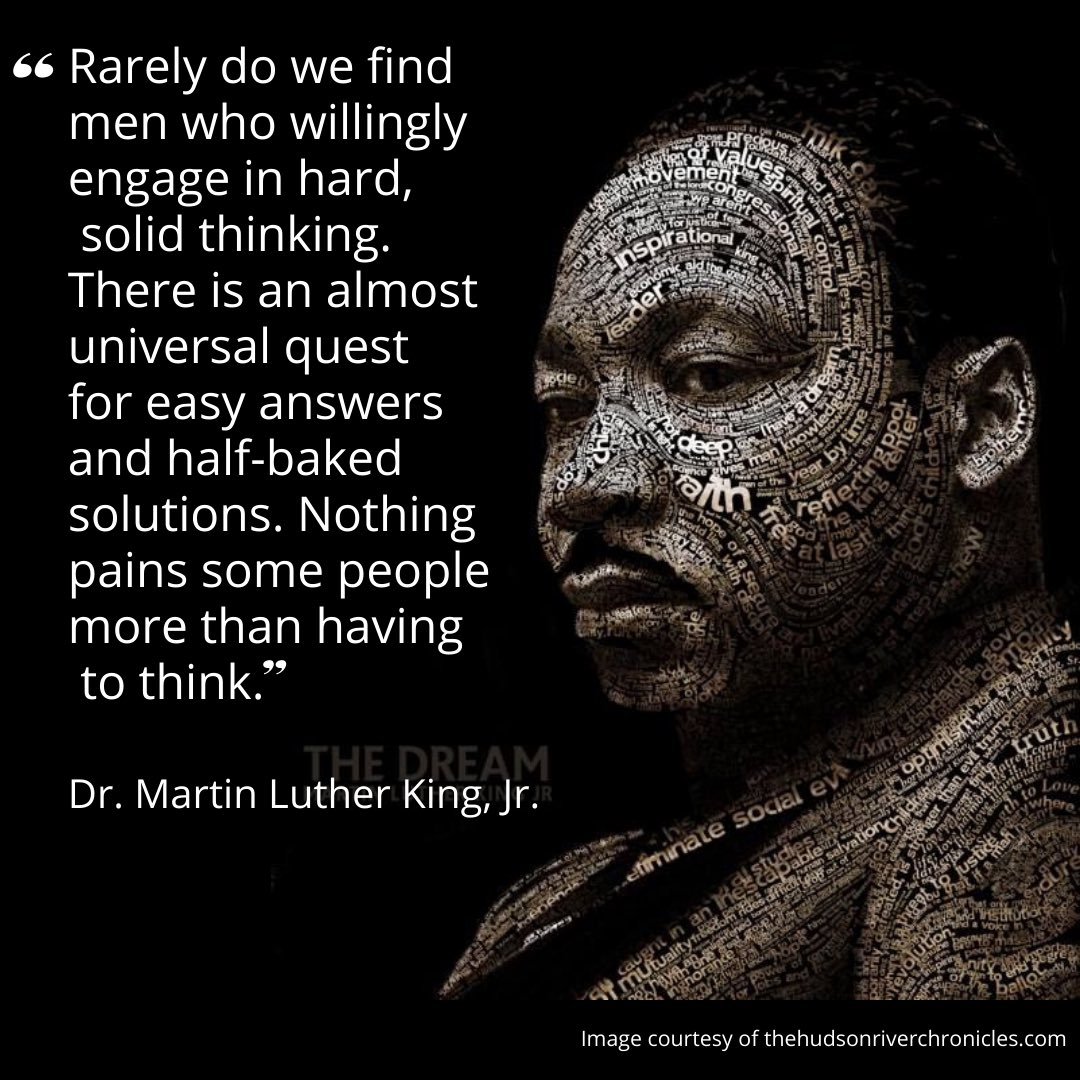 One of Dr King's thoughts on education. Something to ponder today and everyday! #mlkday #mlkday2021 #ihaveadream #dreambig #livingthedream #educator #highereducation #brandconsultant #artist #author #publicspeaker