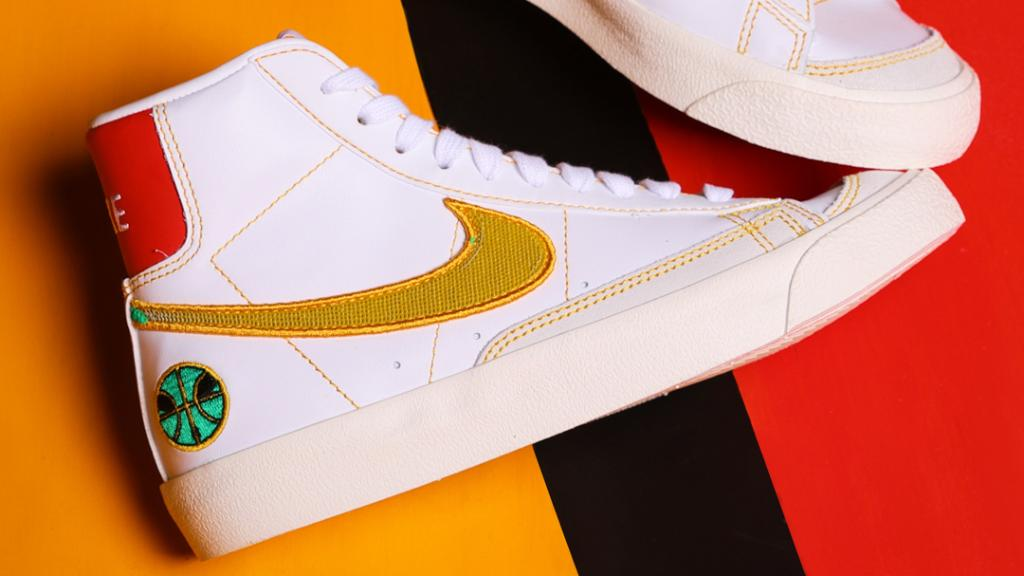Out of this world! Cop the #Nike Blazer 'Raygun' in men's and kids sizes.  Shop: