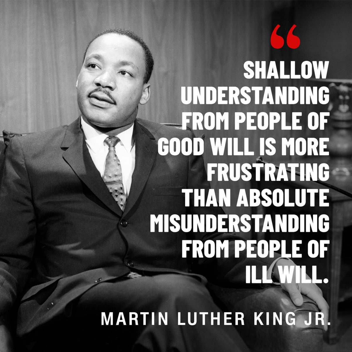 Here are 9 quotes from the Rev. Martin Luther King Jr. that inspire today's social justice leaders: https://t.co/ZZB3QB9OVW https://t.co/NOkb6qU9A3