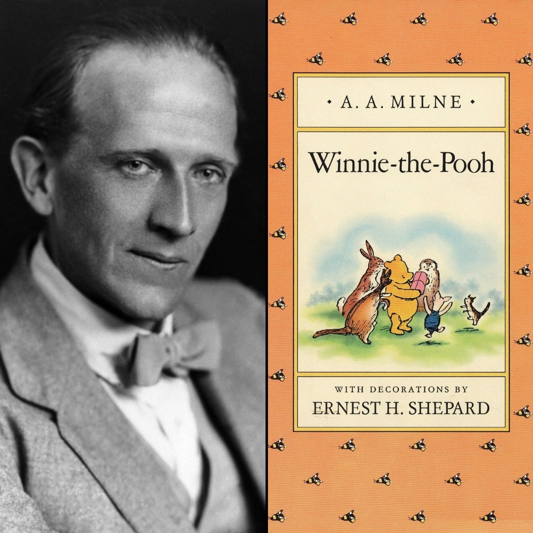 """Did you know that """"Winnie the Pooh"""" author, A.A. Milne was also a prolific Broadway playwright? He was the author of """"Mr. Pim Passes By"""", """"The Truth About Blayds"""", """"Belinda"""", and more.  He was born on this day in 1882, and would be 139-years-old today! #CSC #CSC35for35 #OnThisDay"""