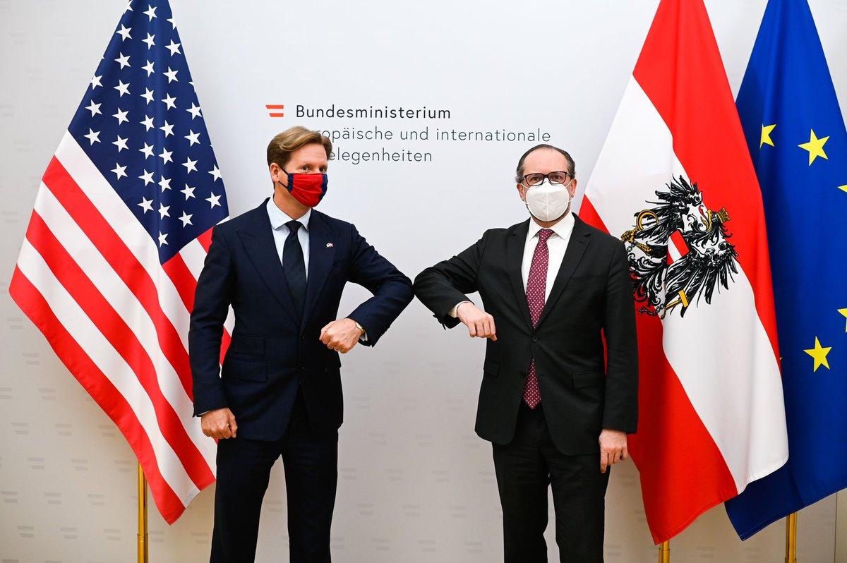 "FM #Schallenberg: ""Not saying goodbye, but ""auf Wiedersehen"" to @usembvienna Ambassador Trevor #Traina, a true friend of Austria. I thank him for his tireless, innovative & successful efforts to deepen 🇦🇹 🤝 🇺🇸 relations."""