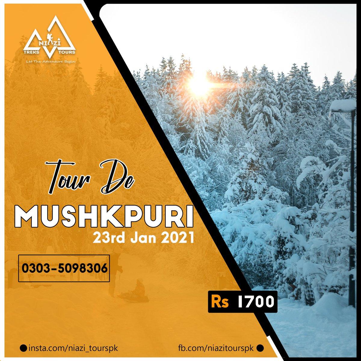 1 Dayer Snowy Trip to Mushkpuri Top.  BOOK NOW.  Charges: 1699 Per Person   Date: 23rd Jan 2021  For Bookings: 03035098306 @niazi_tourspk  #niazitourspk #wednesdaythought  #ARYNews #K2winter2021  #StayTuned #Pakistan  #tourism #Mushkpuri  #Mushkpuritop